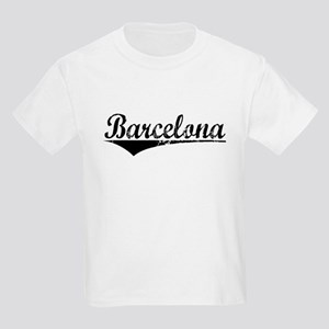 Barcelona, Aged, Kids Light T-Shirt