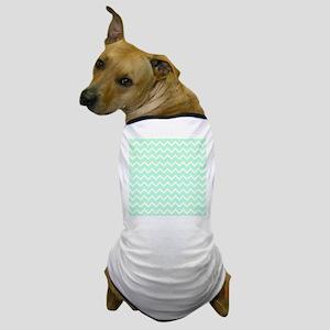 Mint Green Zigzags. Dog T-Shirt