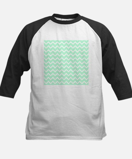 Mint Green Zigzags. Kids Baseball Jersey