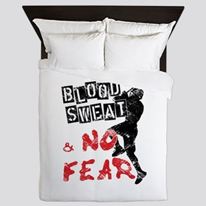 Blood, Sweat and No Fear (Lacrosse) Queen Duvet