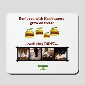 Don't you wish hamburgers gre Mousepad