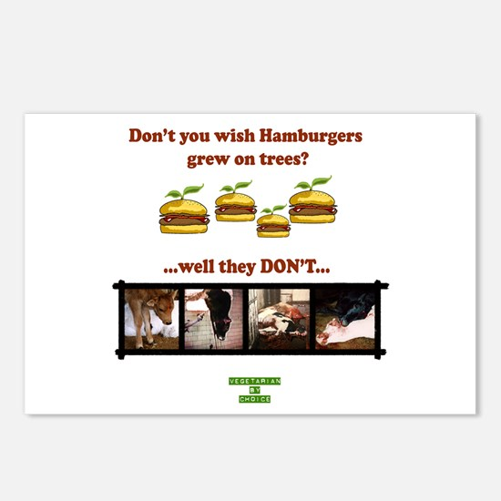 Don't you wish hamburgers gre Postcards (Package o