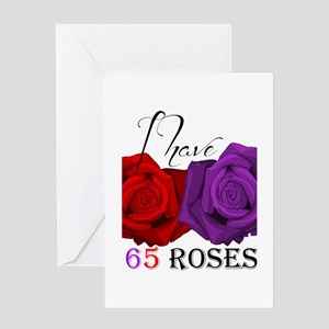 Terminally ill greeting cards cafepress two roses i have cystic fibrosis greeting card m4hsunfo