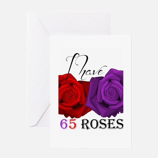 Two Roses: I have Cystic Fibrosis Greeting Card