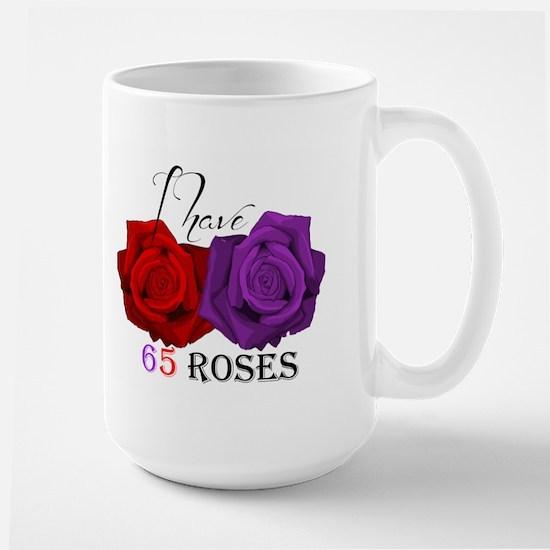 Two Roses: I have Cystic Fibrosis Large Mug