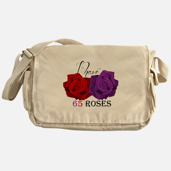 Two Roses: I have Cystic Fibrosis Messenger Bag