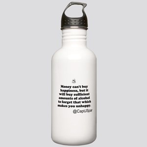 Money cant buy happiness Stainless Water Bottle 1.