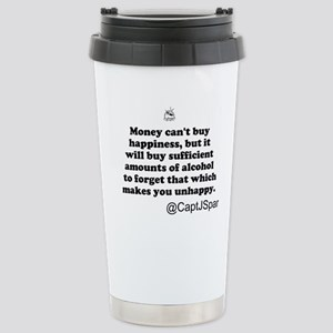 Money cant buy happiness Stainless Steel Travel Mu