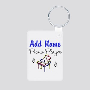 PIANO PLAYER Aluminum Photo Keychain