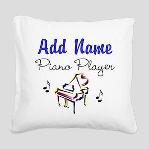 PIANO PLAYER Square Canvas Pillow