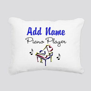 PIANO PLAYER Rectangular Canvas Pillow