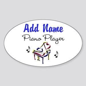 PIANO PLAYER Sticker (Oval)