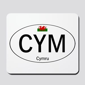 Car code Wales - White Mousepad