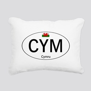 Car code Wales - White Rectangular Canvas Pillow