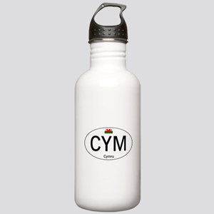 Car code Wales - White Stainless Water Bottle 1.0L