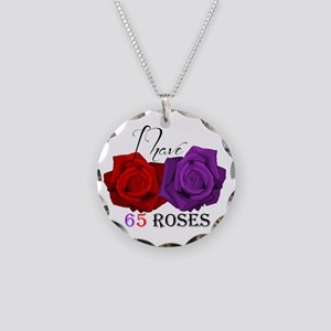 Two Roses: I Have Cystic Fibrosis Necklace Circle