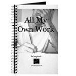 """All My Own Work"" journal/notebook"