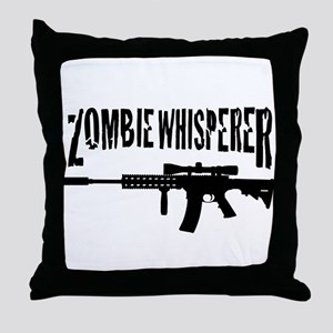 Zombie Whisperer 2 Throw Pillow