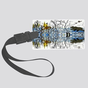 Native American Warrior Large Luggage Tag