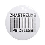 Chartreux Cats Priceless Lover Ornament (Round)