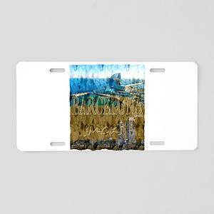 barcelona spain art illustration Aluminum License