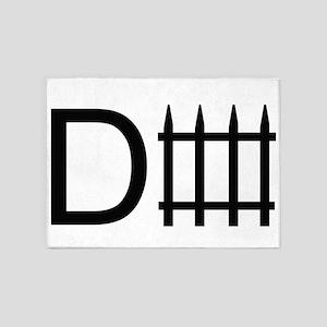d fence. 5'x7'Area Rug