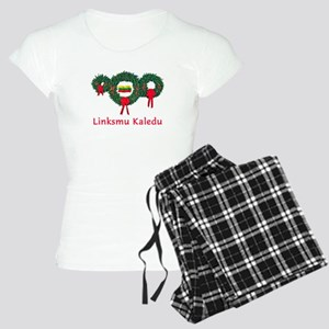 Lithuania Christmas 2 Women's Light Pajamas
