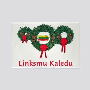 Lithuania Christmas 2 Rectangle Magnet