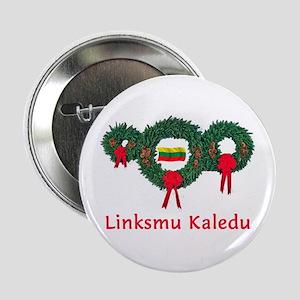 "Lithuania Christmas 2 2.25"" Button"
