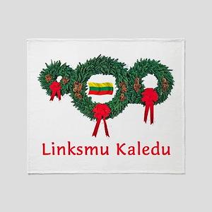 Lithuania Christmas 2 Throw Blanket
