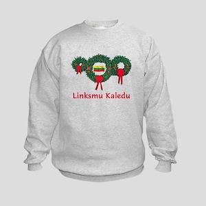 Lithuania Christmas 2 Kids Sweatshirt