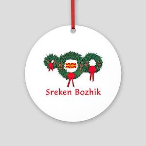 Macedonia Christmas 2 Ornament (Round)