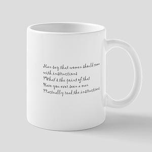 Man and instructions Mug