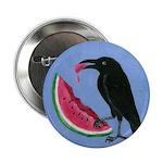 Crow & Watermelon Button