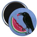 Crow & Watermelon Magnet