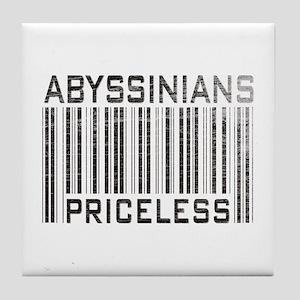 Abyssinian Cat Priceless Pet Lover Tile Coaster