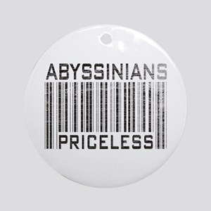 Abyssinian Cat Priceless Pet Lover Ornament (Round