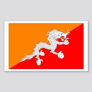 Bhutan Rectangle Sticker