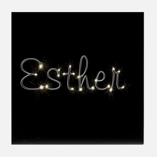 Esther Spark Tile Coaster