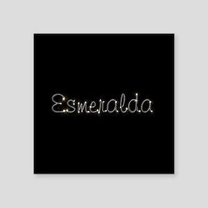 "Esmeralda Spark Square Sticker 3"" x 3"""