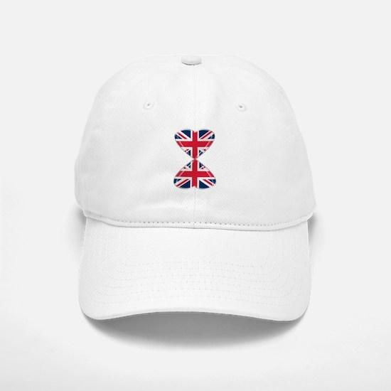 UK Hearts Flag Art Baseball Baseball Cap