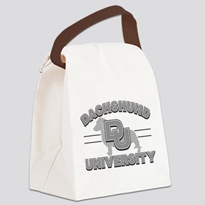 Dachshund University Canvas Lunch Bag
