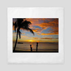 Fiji Sunset Queen Duvet