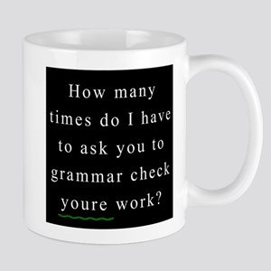 Grammar Check 1 BLACK Mug