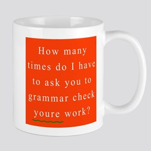 Grammar Check 1 RED Mug