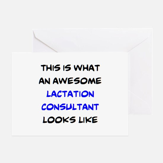 awesome lactation consultant Greeting Card