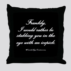 Icepick Throw Pillow