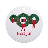 Christmas norway Round Ornaments