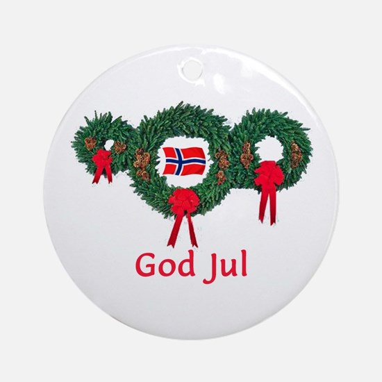 Norway Christmas 2 Ornament (Round)