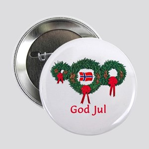 "Norway Christmas 2 2.25"" Button"